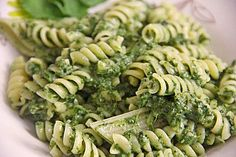 Swiss chard pesto, a delicious recipe from the vegetarian category. Veggie Recipes, Baby Food Recipes, Vegetarian Recipes, Cooking Recipes, Healthy Recipes, Pork Fillet, Veggie Pasta, Veggie Food, Plant Based Nutrition