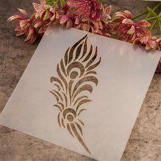 Plantilla del aerógrafo de la pluma de la pintura plantillas de álbum de recortes de artesanía regalo de la decoración de la pared del arte