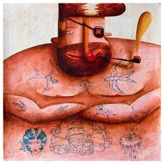 original painting original art acrylic by ArtRobertRomanowicz