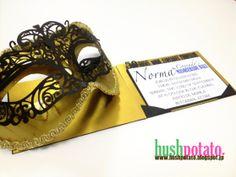 Masquerade Invites http://iamhushpotato.wordpress.com/2014/04/09/lp-invites-projects/