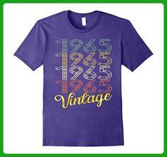 Mens Vintage 1965 Gold 52 Years Old Fun 52nd Birthday Shirt Gifts Large Purple - Birthday shirts (*Amazon Partner-Link)