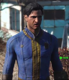 [Help] Trying to make the Vault 111 suit from Fallout guys, So I'm wanting to make a Vault 111 suit and there's only tutorials for t. Fallout Costume, Vault 111, Vaulting, Fallout Vault, Costumes, Blazer, Suits, Cosplay Ideas, Jackets