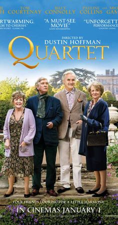 Directed by Dustin Hoffman.  With Maggie Smith, Michael Gambon, Billy Connolly, Tom Courtenay. At a home for retired musicians, the annual concert to celebrate Verdi's birthday is disrupted by the arrival of Jean, an eternal diva and the former wife of one of the residents.