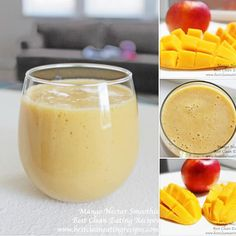 Easy healthy recipe: mango-nectar smoothie. Delicious, refreshing and clean! #cleaneaitng #cleaneatingrecipes #healthyrecipes #smoothierecipes #healthydesserts
