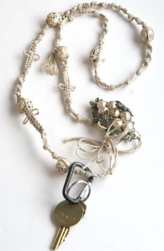 this brings me back to making bracelets as a kid. neat idea for a lanyard. -tutorial by Jenny Doh