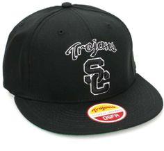 USC Trojans Flat Bill Vintage Retro Snapback Hat Cap All Black USC Trojans. $14.99