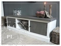 Maatwerk! Landelijk tv meubel / flatscreenmeubel driftwood More
