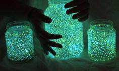 Jar with Fluorescent Stars-Energy Saver