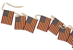 Patriotic Crafts, Patriotic Decorations, American Flag Bunting, Flag Garland, Tea Stains, Outdoor Flags, American Decor, Old Glory, Flag Design