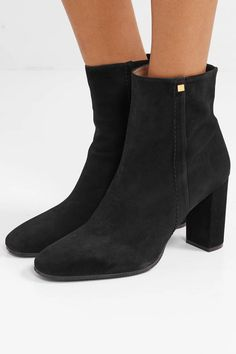 9d5840ab53be Stuart Weitzman - Solo stretch-suede ankle boots