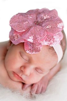 Pink Baby Boutique - Baby Girl Sequins Pink Rose Flowerette Headband, $15.00 (http://www.pinkbabyboutique.com/baby-girl-sequins-pink-rose-flowerette-headband/)