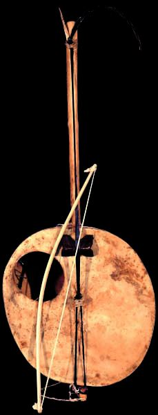 Goge. West African one string stick fiddle