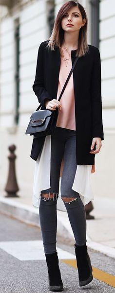 Bekleidet Black Blazer Fall Street Style Inspo