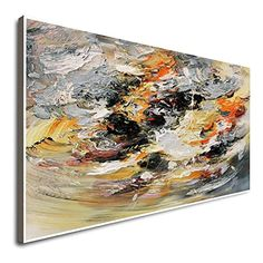Amazon.com: Textured Original Large Abstract Painting Oil Painting Artwork Gray Artwork Large Wall Painting Artwork On Canvas Large Canvas Art: Handmade