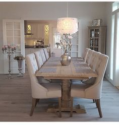 44 Fantastic Dining Room Decoration Ideas You can find Dining room design and more on our Fantastic Di. Dining Room Table Decor, Elegant Dining Room, Dining Room Design, Dining Room Furniture, Living Room Decor, Dining Rooms, Wayfair Dining Room Sets, Dinning Room Ideas, Dining Room Inspiration