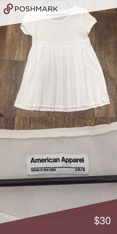 American Apparel // Babydoll Dress Super cute MINI dress or long shirt... I literally just bought this off of Poshmark, but it's too small on me to wear how I wanted. 🙄 Wanting it to go to a good home because it is SO cute! Never worn by me. Just got it in the mail today. They don't make these anymore. Best for someone who's short. My price is firm because I don't want to lose too much money off of my purchase that was just made. American Apparel Dresses Mini