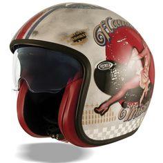 Premier Vintage Pin Up Old Style helmet - silver