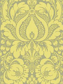 Yellow/grey wallpaper -- to line back of bookcase?
