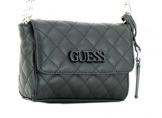 5481658c84409 Crossbody Bag Guess Elliana Mini schwarz Steppnähte Rauten