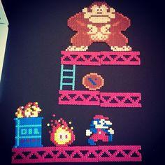 Donkey Kong hama beads by raoyl83