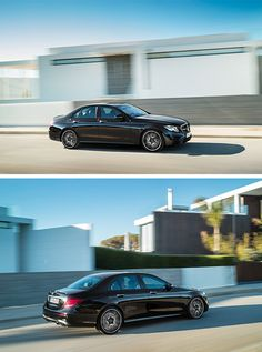 High on power, low in consumption: Drive in style in the new Mercedes-AMG E 43 4MATIC. [Combined fuel consumption 8.4–8.2 l/100 km   combined CO2 emission 192–187 g/km   http://mb4.me/efficiency_statement]