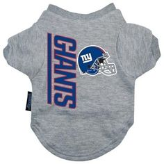 New York Giants Dog Tee Shirt - Medium  15% Discount - Use code DOGGIE at Checkout   http://www.gingersdoggieheaven.com #NewYorkGiants 15% Discount - Use code DOGGIE at Checkout
