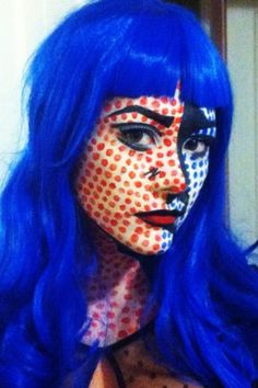 How to create a Lichtenstein painting on your face.