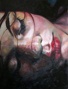 """Thomas Saliot; Oil, Painting """"Close up dark"""""""