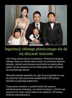 Ingerencji chirurga plastycznego nie da się ukrywać wiecznie – Jian Feng uważał się za szczęśliwca. Poślubił przepiękną kobietę, która za chwilę miała urodzić ich pierwsze wspólne dziecko. Jednak potomkowie przychodzili na świat jednak żaden nie jest podobny ani do atrakcyjnej matki, ani także do przystojnego tatusia.  Wszystko jednak wyjaśniło się, gdy żona przyznała mu się, że przed tym jak się poznali wydała blisko 100 tysięcy dolarów na operacje plastyczne.  Feng oprócz wniosku o rozwód… Matki, Funny Mems, You Matter, God Loves You, Gods Love, Sarcasm, Haha, Love You, Humor