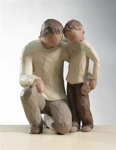 "Father and Son figurine by Willow Tree. ""Celebrating the bond of love between fathers and sons."" #willowtree #fathers #sons"