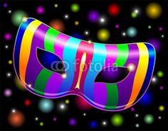 #Carnival #Mask #Psychedelic #Rainbow - #vector © bluedarkat #47118072     http://us.fotolia.com/id/47118072/partner/200929677