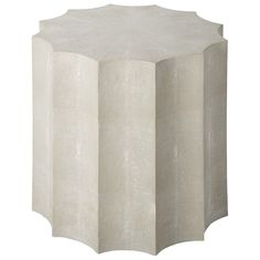 Regina Andrew Ivory Grey Shagreen Marilyn Table @Zinc_Door. Between chairs in family