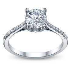 14K White Gold Engagement ring by Coast Diamond priced at $1,195.00, diamond not included