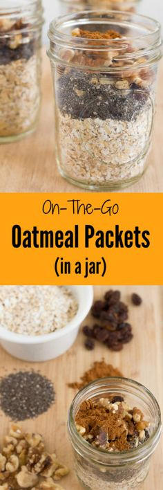 These On-the-Go Oatmeal Packets (In a Jar) are a healthy alternative to flavored oatmeal packet and are a great make-ahead breakfast that you can bring with you on travel, to work or enjoy at home.