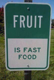 Fruit is fast food. #tw