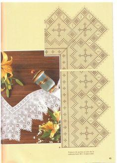 Gallery.ru / Φωτογραφία # 12 - Muestras y Motivos Especial Puntillas 13 - tymannost Filet Crochet, Crochet Borders, Crochet Cross, Crochet Trim, Love Crochet, Crochet Doilies, Knit Crochet, Bobbin Lace Patterns, Crochet Patterns