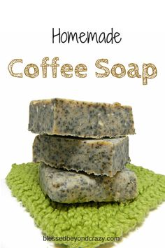 How to make DIY Coffee Soap - it's easier than you think! #blessedbeyondcrazy #coffee #soap