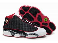 Jordan 13 red black basketball shoes