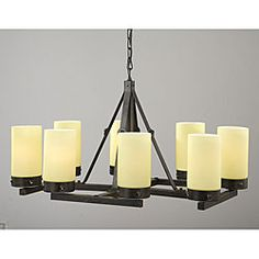 Yes, the Antique Bronze Linear 8-light Chandelier can use standard florescent light bulbs. Have a great day