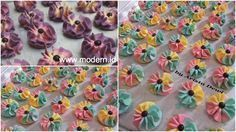 Kue semprit biasanya memiliki penampilan warna yang polos saja. Namun dengan sedikit sentuhan Bunda Dewi, tampilannya jadi lebih cantik d...