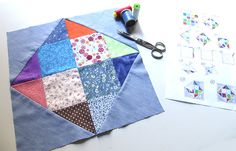 TUTORIAL PATCHWORK: two of 16 square blocks. (PART 1) | the ANTONIA