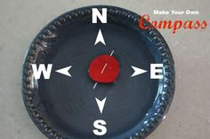 Make Your Own Compass. Good for teaching about magnets and the earth as a giant magnet. I wonder if it would work better setting the needle on top of the foam circle instead of through.