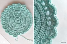 Crochet coasters - simple instructions for round cup coasters - Talu.de In this simple guide for mug coasters, we show you how to easily crochet coasters. We have put together great ideas for . Easy Crochet Patterns, Crochet Motif, Knit Crochet, Knitting Designs, Knitting Patterns, Knit Art, Knitted Headband, Crochet Fashion, Crochet Gifts