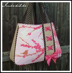 Sac original Diy Tote Bag, Reusable Tote Bags, Purses And Handbags, Tote Handbags, Fab Bag, Handmade Purses, Wallet Pattern, Craft Bags, Denim Bag