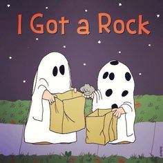 I really did get a rock one Halloween