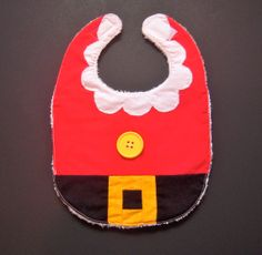 Christmas Mrs. Claus Baby/Toddler Bib by AlwaysSewinSomethin, $10.00
