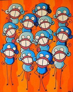 13 Blue Monkeys