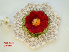 Pink Rose Crochet: Wonderful Flower Flower Hexagon
