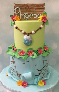 Pin By Charis  On Disney Moana La Bahíana Y Tematica Marina - Maui birthday cakes