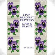ukrainian loom flower bracelet - Google Search
